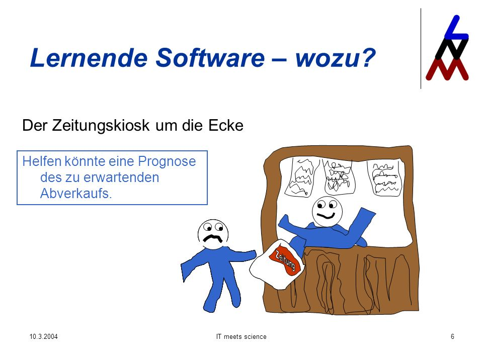 10.3.2004IT meets science17 Lernende Software – wie.