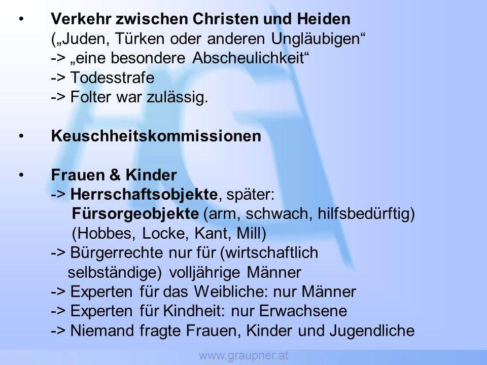 www.graupner.at Die Kritik Heftige Kritik: -> World Association for Sexual Health (WAS) -> Öst.
