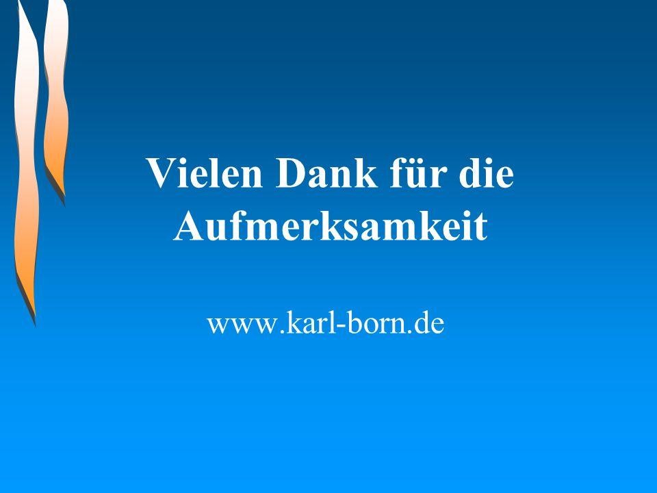 Vielen Dank für die Aufmerksamkeit www.karl-born.de