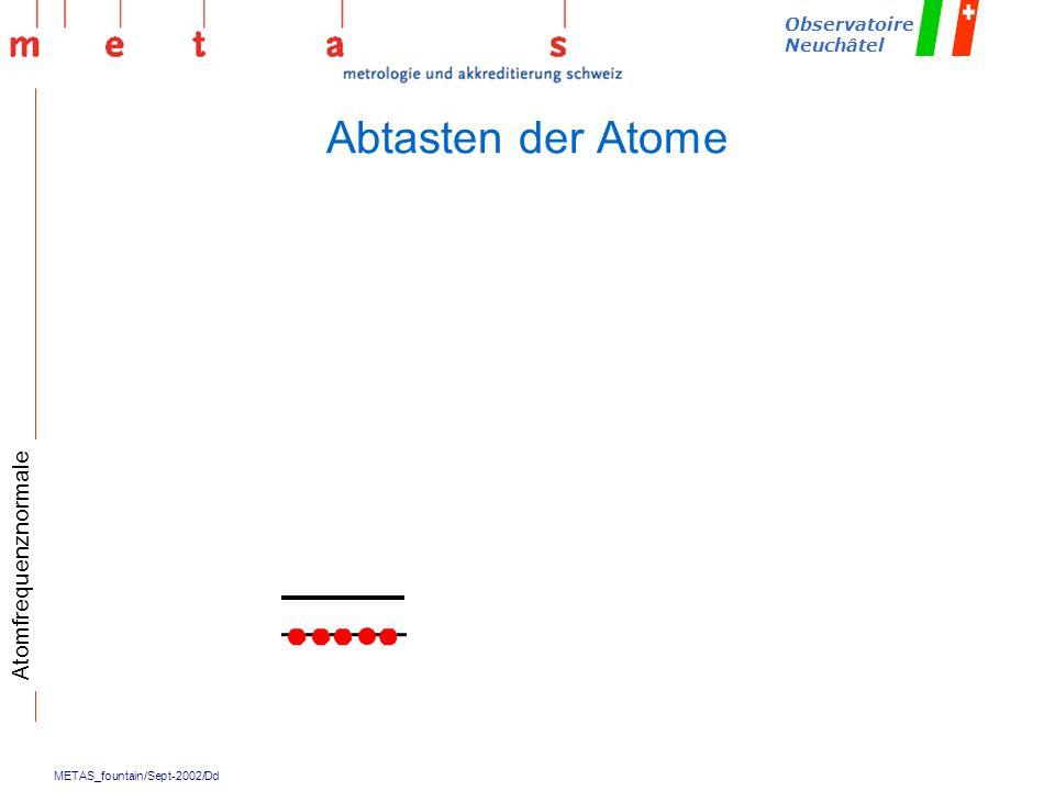 METAS_fountain/Sept-2002/Dd Observatoire Neuchâtel Abtasten der Atome Atomfrequenznormale