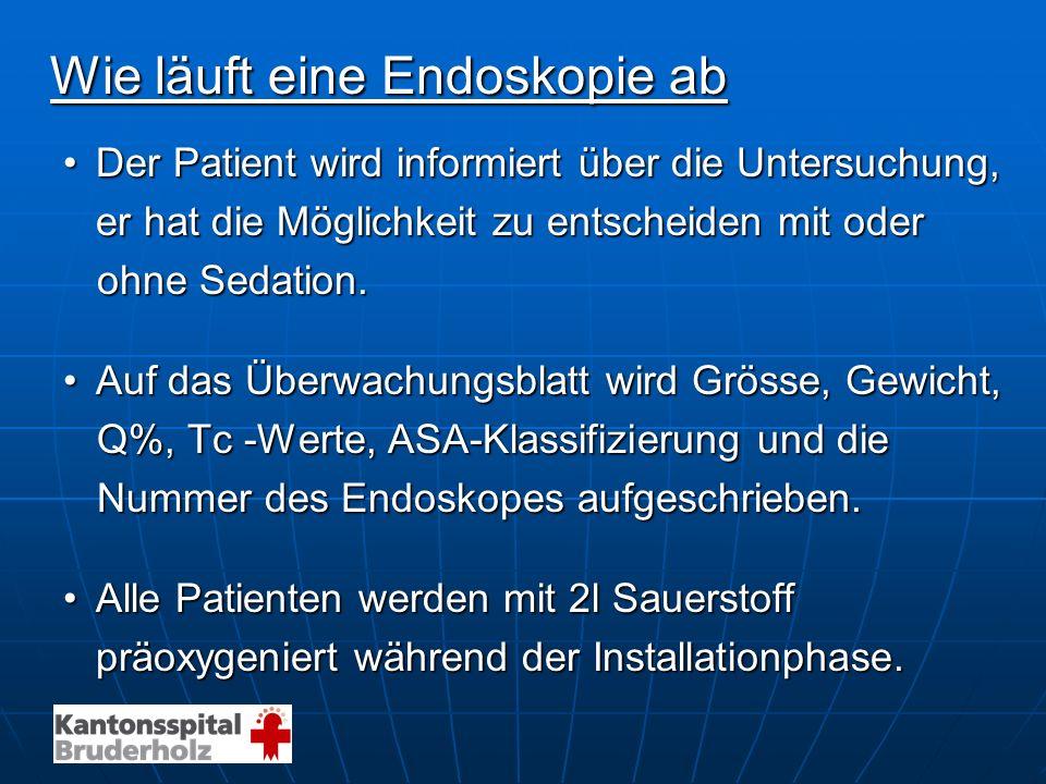 Wie läuft eine Endoskopie ab Der Patient wird informiert über die Untersuchung,Der Patient wird informiert über die Untersuchung, er hat die Möglichke