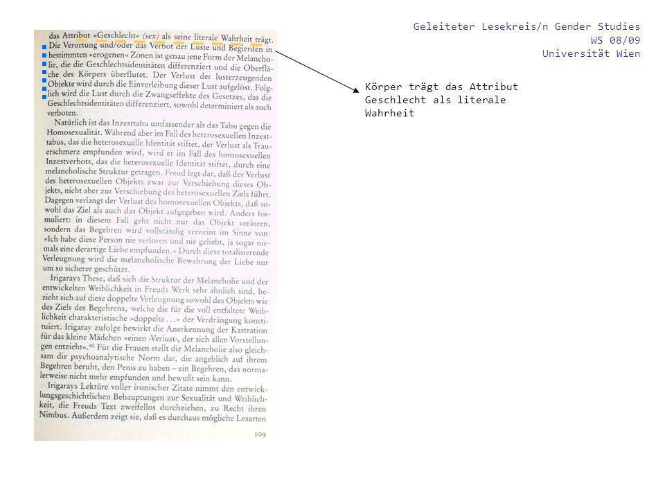 Geleiteter Lesekreis zu einem Grundlagentext der Gender Studies WS 08/09 Universität Wien Historische Schönheitsvorstellungen / Körperbilder Back [5][5]