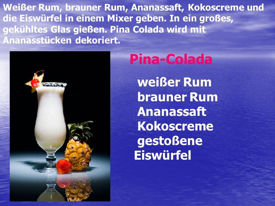Tequila und Orangensaft in ein gekühltes Glas über die Eiswürfel geben.