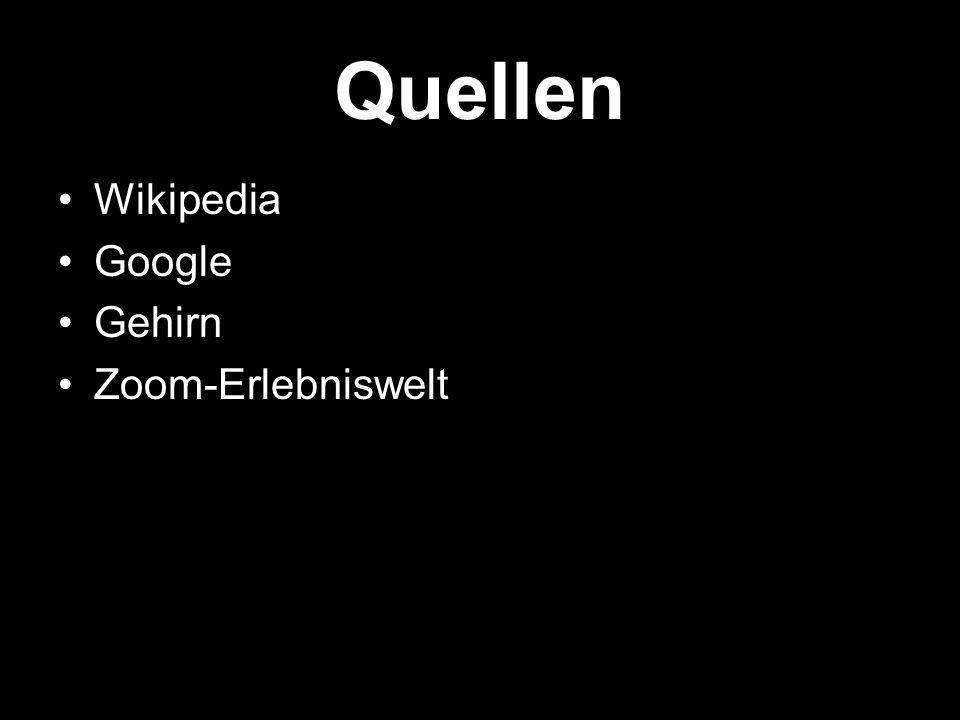 Quellen Wikipedia Google Gehirn Zoom-Erlebniswelt