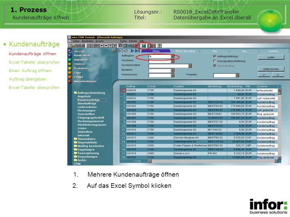 1.Übersicht in Excel 1.