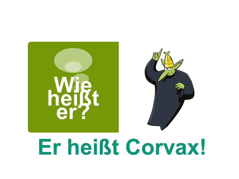 Wie heißt er? Er heißt Corvax!