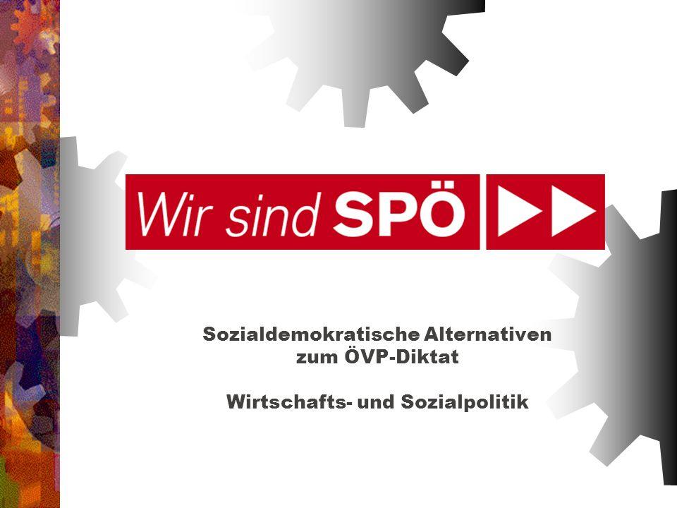 Sozialdemokratische Alternativen zum ÖVP-Diktat Wirtschafts- und Sozialpolitik