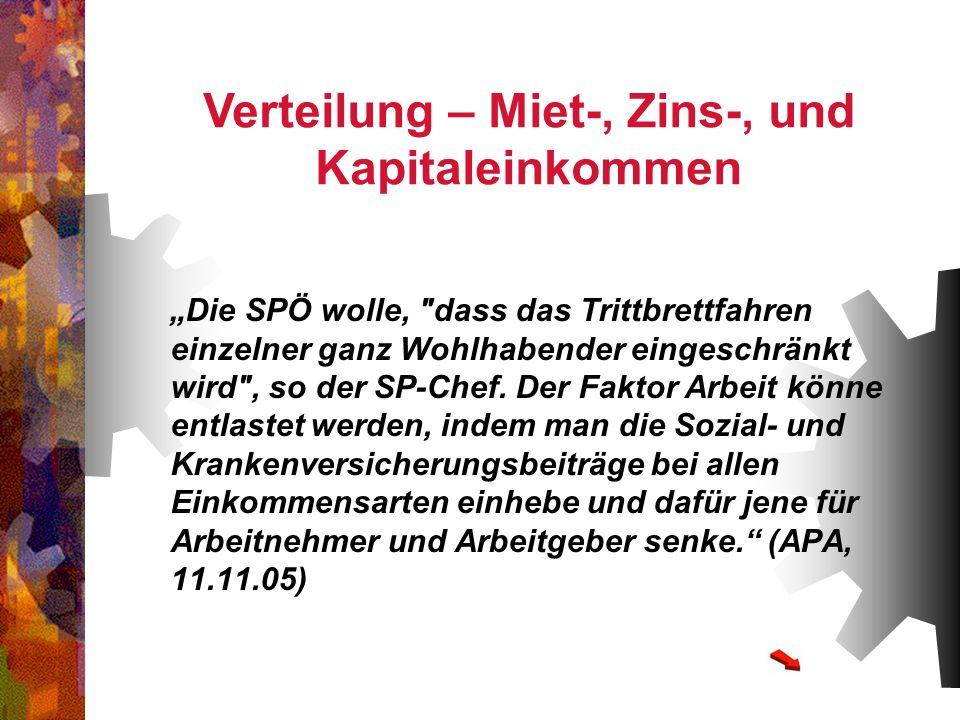 Die SPÖ wolle,