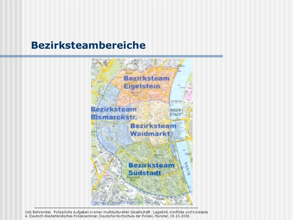 Bezirksteambereiche Udo Behrendes Polizeiliche Aufgaben in einer multikulturellen Gesellschaft Lagebild, Konflikte und Konzepte 4. Deutsch-Niederländi
