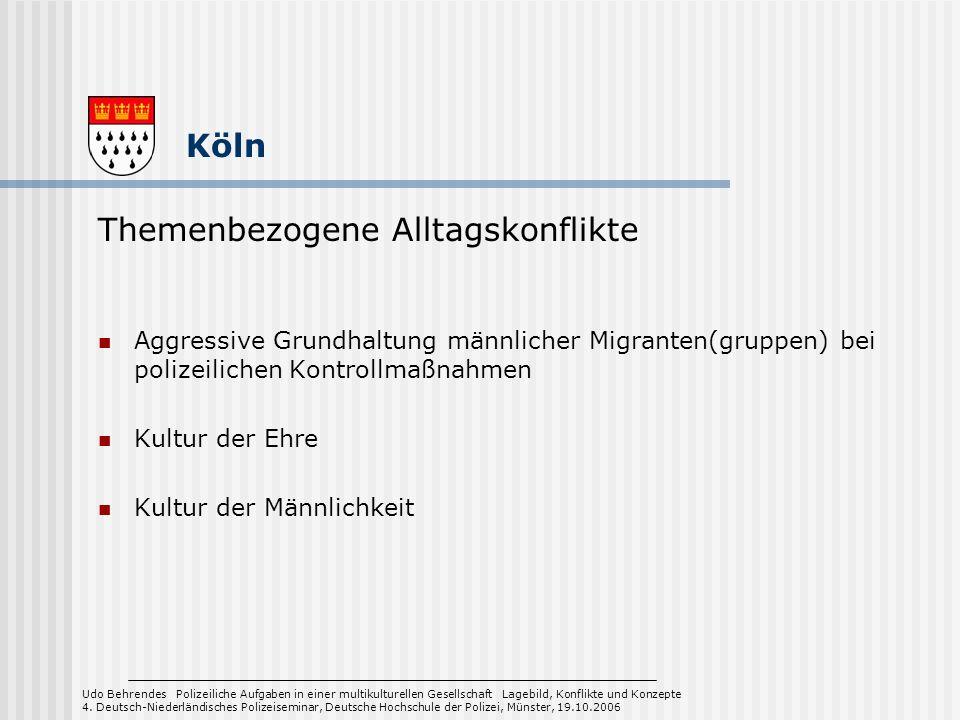 Aggressive Grundhaltung männlicher Migranten(gruppen) bei polizeilichen Kontrollmaßnahmen Kultur der Ehre Kultur der Männlichkeit Udo Behrendes Polize