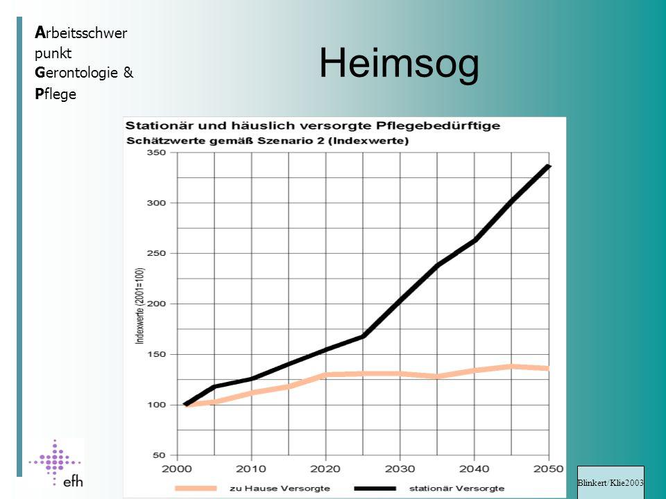 A rbeitsschwer punkt Gerontologie & Pflege Heimsog Blinkert/Klie2003