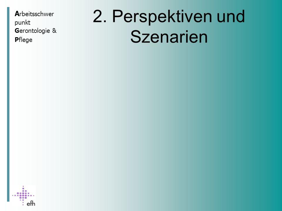 A rbeitsschwer punkt Gerontologie & Pflege 2. Perspektiven und Szenarien