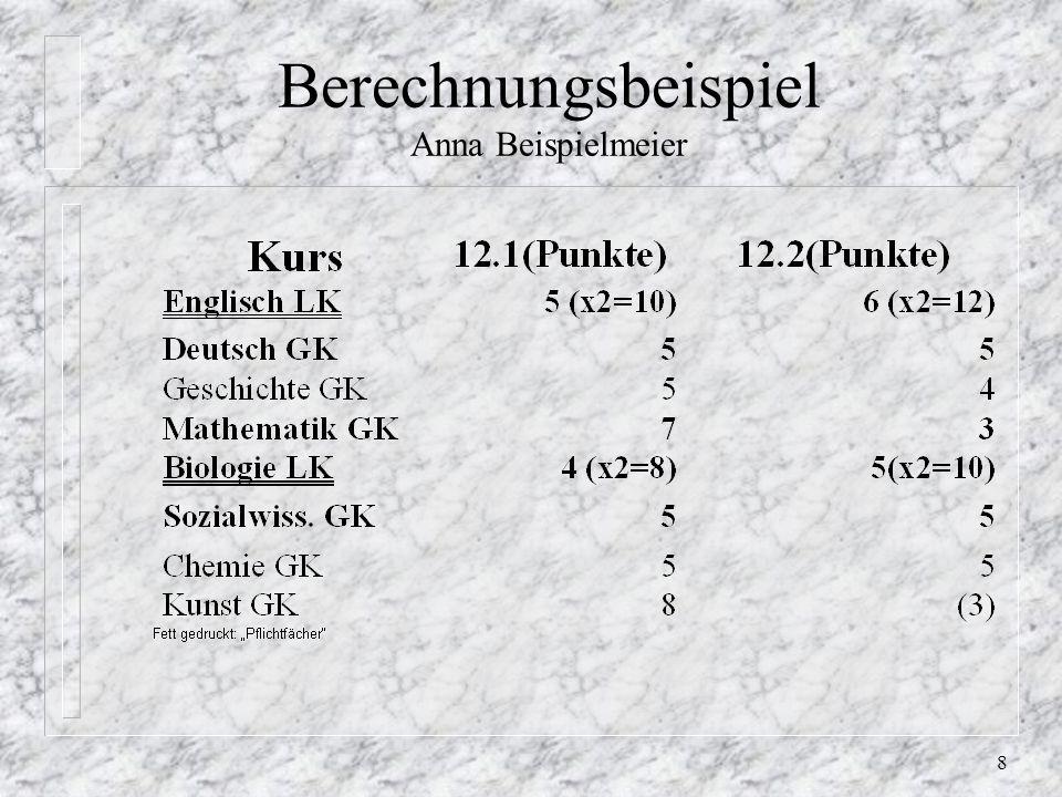 8 Berechnungsbeispiel Anna Beispielmeier