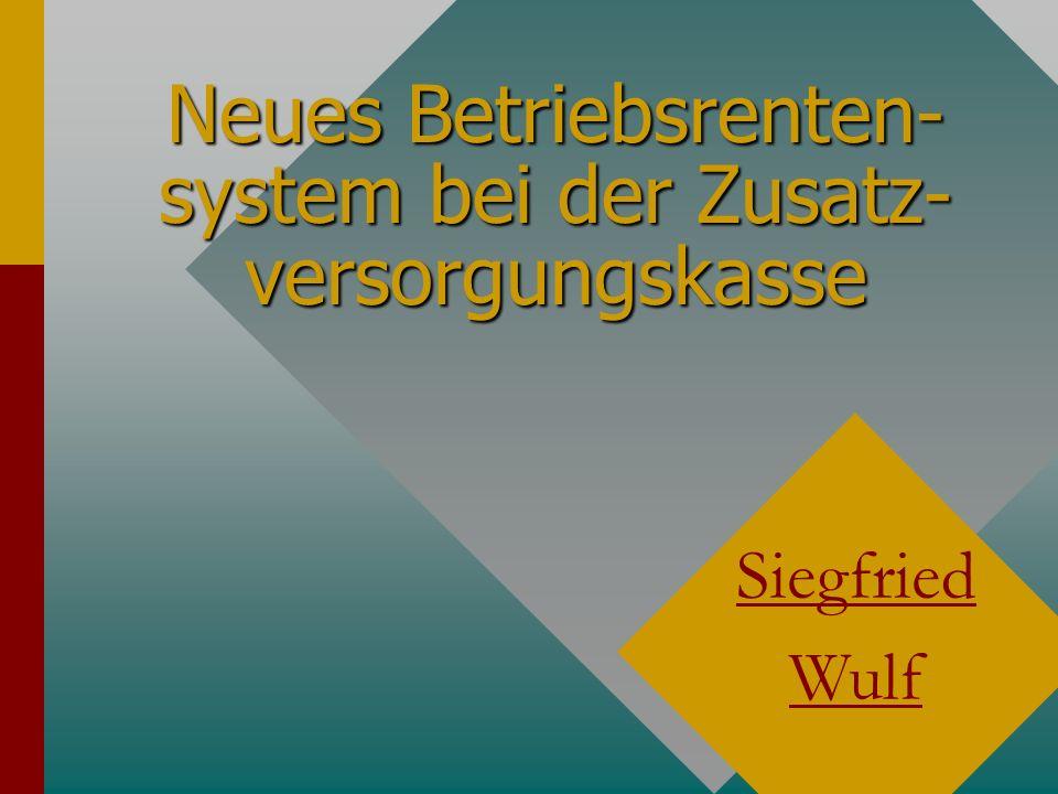 Siegfried Wulf Leistungsartfaktor Der Leistungsartfaktor ist abhängig von der bezogenen Rentenart.Der Leistungsartfaktor ist abhängig von der bezogenen Rentenart.