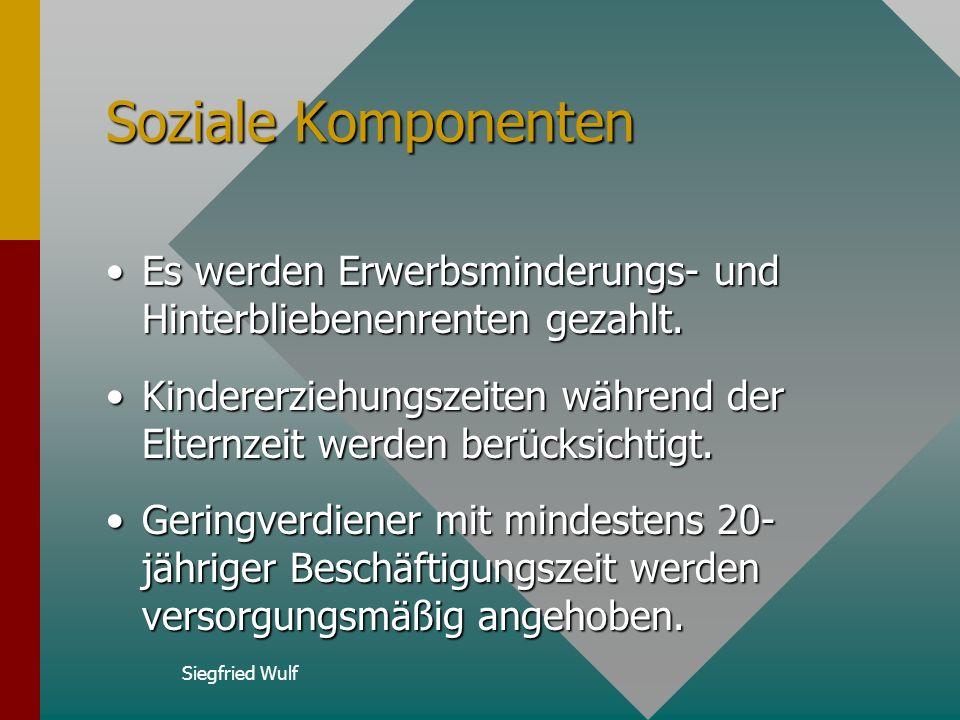 Siegfried Wulf Leistungsartfaktor Der Leistungsartfaktor ist abhängig von der bezogenen Rentenart.Der Leistungsartfaktor ist abhängig von der bezogene