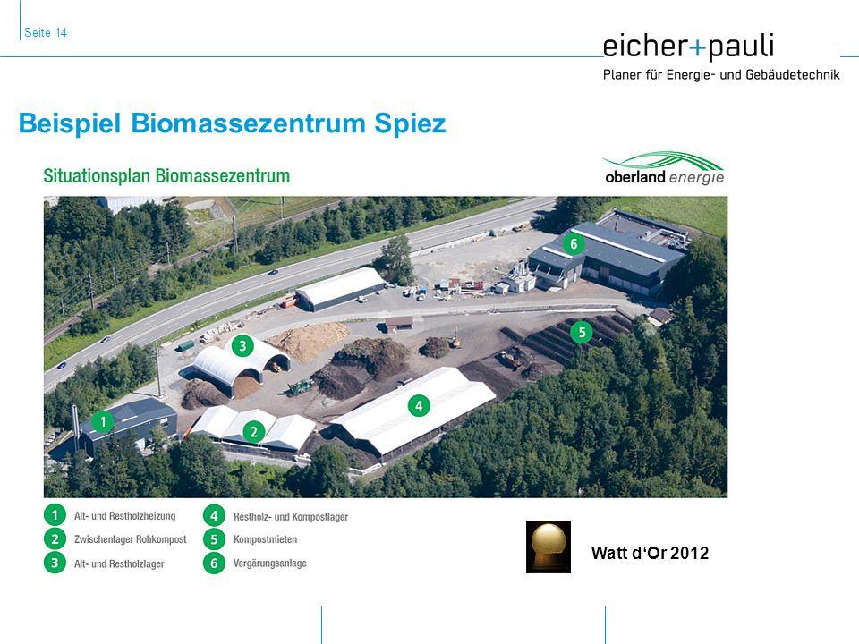 Seite 14 Beispiel Biomassezentrum Spiez Watt dOr 2012