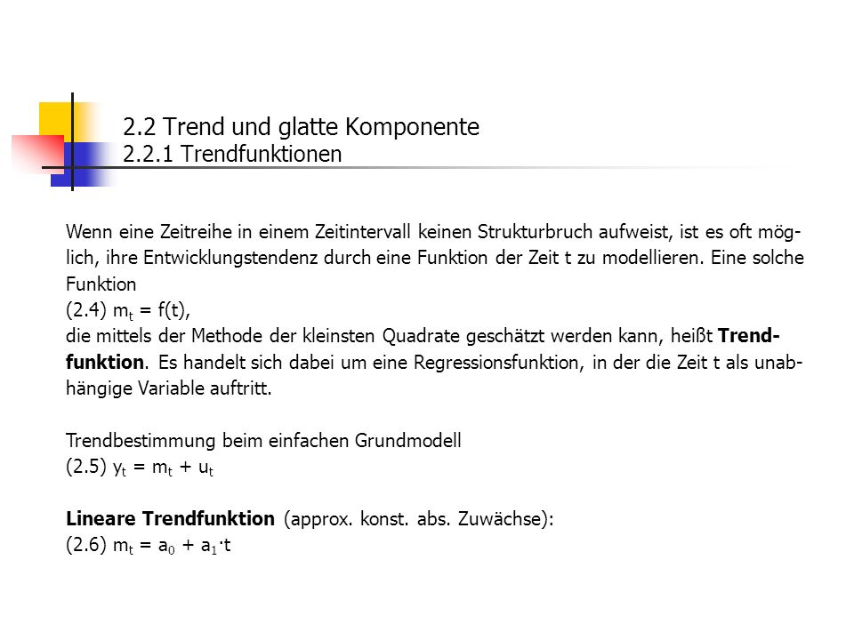 Kleinst-Quadrate-Kriterium: (2.7) (10.1).