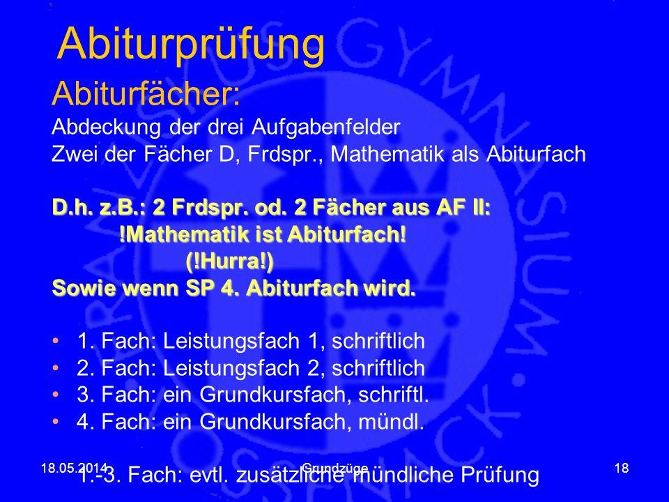 Abiturprüfung 18.05.2014Grundzüge18