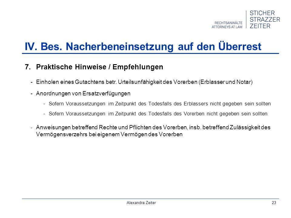 Alexandra Zeiter23 7.Praktische Hinweise / Empfehlungen -Einholen eines Gutachtens betr.