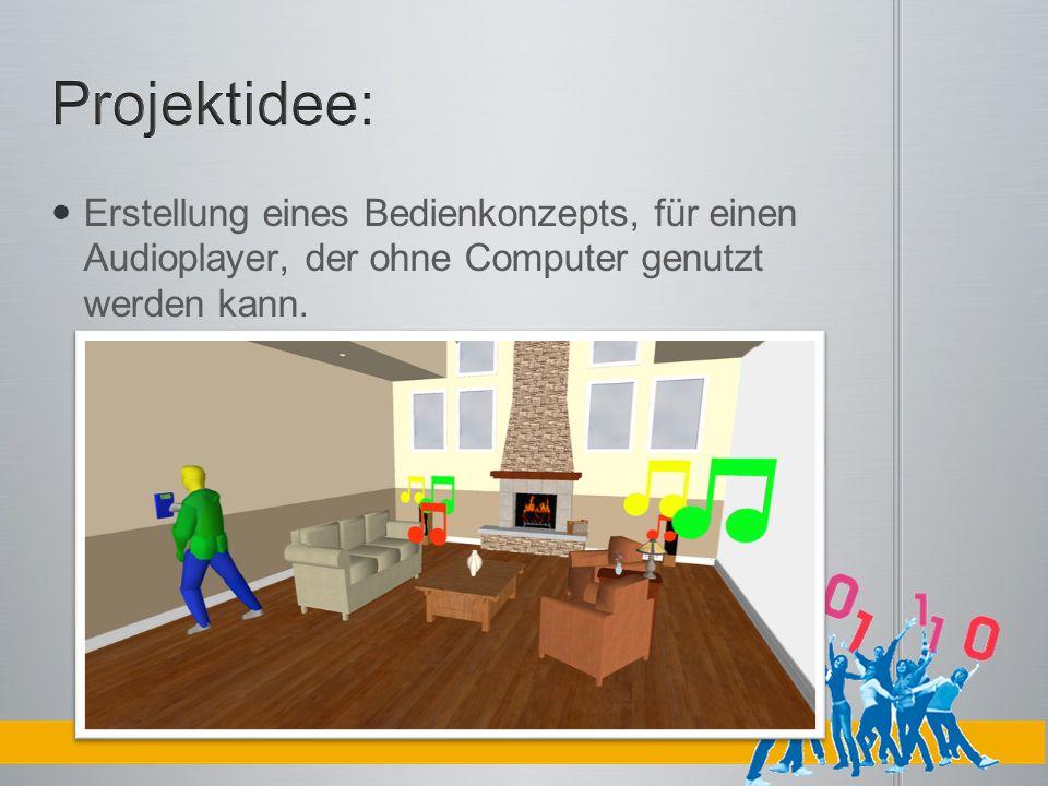 Erstellung eines Bedienkonzepts, für einen Audioplayer, der ohne Computer genutzt werden kann.