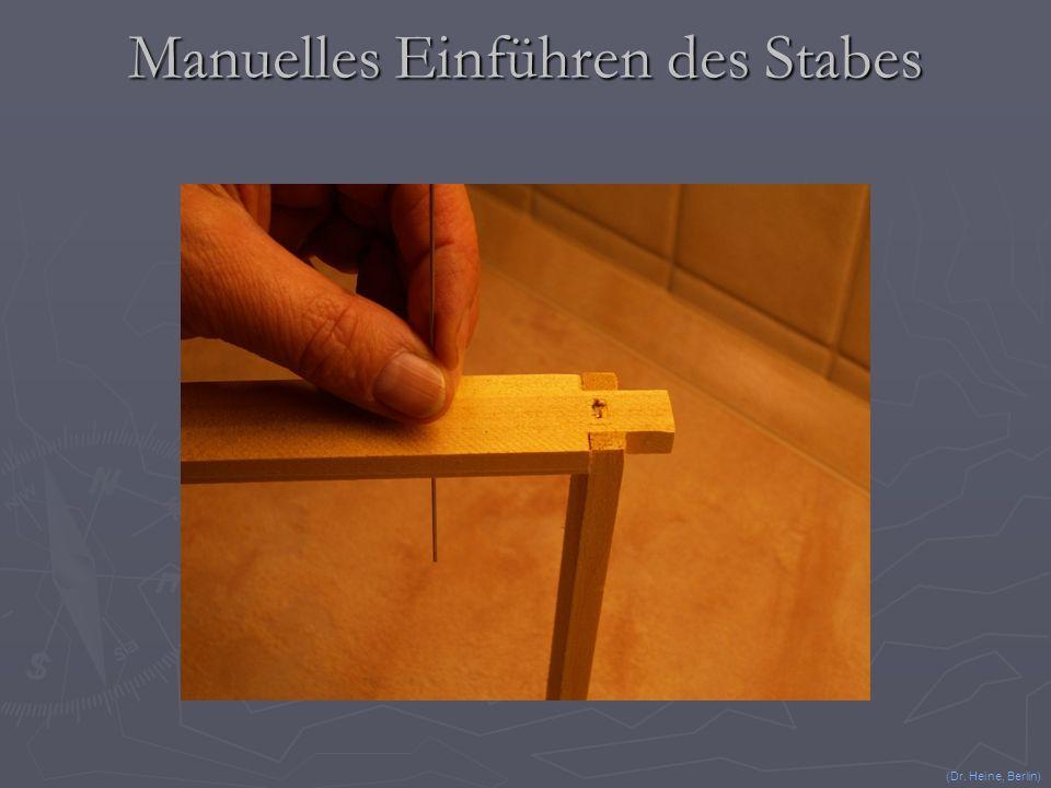 Verwendung eines sogar vorher gedrahtet benutzten Rähmchens (Dr. Heine, Berlin)