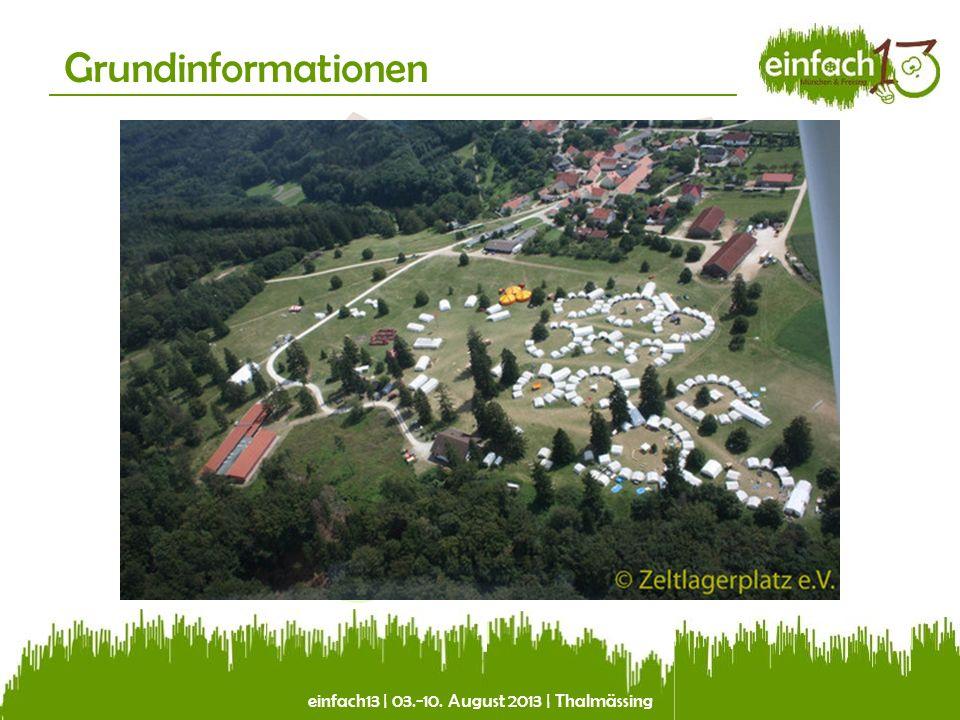 einfach13   03.-10. August 2013   Thalmässing Grundinformationen