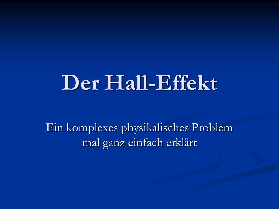 Der Hall-Effekt Ein komplexes physikalisches Problem mal ganz einfach erklärt