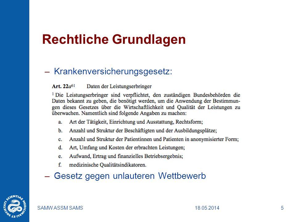 18.05.2014SAMW ASSM SAMS6 Wie kann man die Qualität einer Behandlung messen .