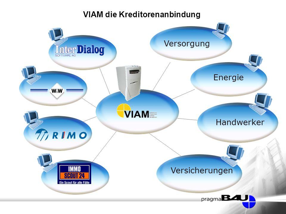 VIAM die Kreditorenanbindung Handwerker Versorgung Versicherungen Energie