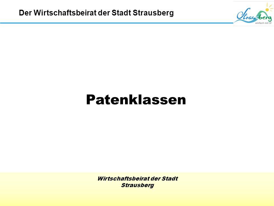 Wirtschaftsbeirat der Stadt Strausberg Patenklassen Der Wirtschaftsbeirat der Stadt Strausberg