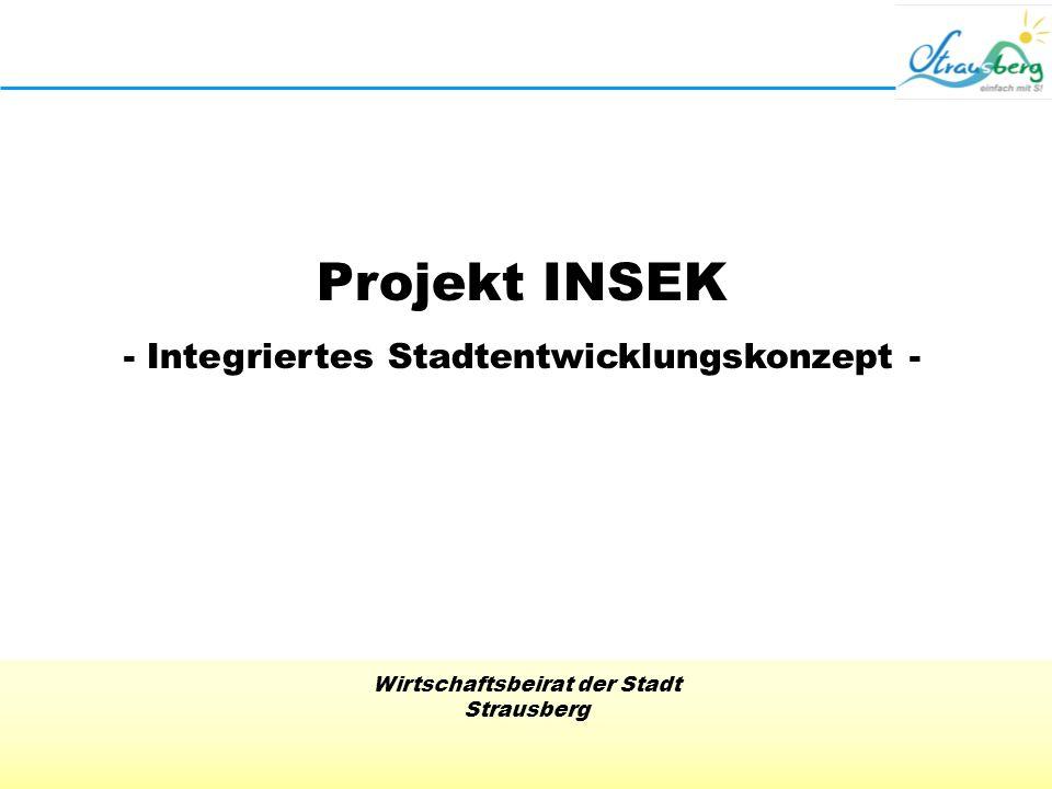 Wirtschaftsbeirat der Stadt Strausberg Projekt INSEK - Integriertes Stadtentwicklungskonzept -