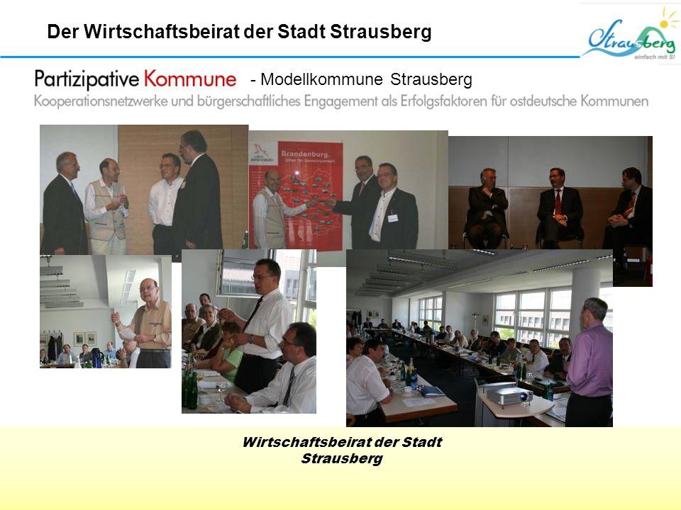 Wirtschaftsbeirat der Stadt Strausberg Der Wirtschaftsbeirat der Stadt Strausberg - Modellkommune Strausberg