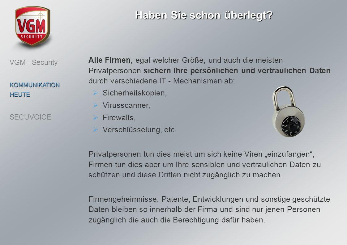 wie viele vertrauliche Informationen mündlich am Telefon weitergegeben werden und nicht geschützt sind.