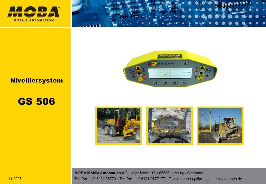 22MOBA AG - GS 506 Die Reglereinheit Controller Die Reglereinheit ist das eigentliche Herzstück des GS 506 und beinhaltet die Reglerplatine und die Leistungsausgänge für die Ventile.