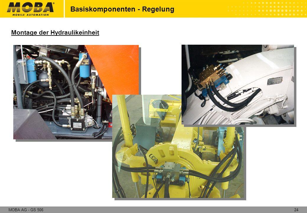 24MOBA AG - GS 506 Montage der Hydraulikeinheit Basiskomponenten - Regelung