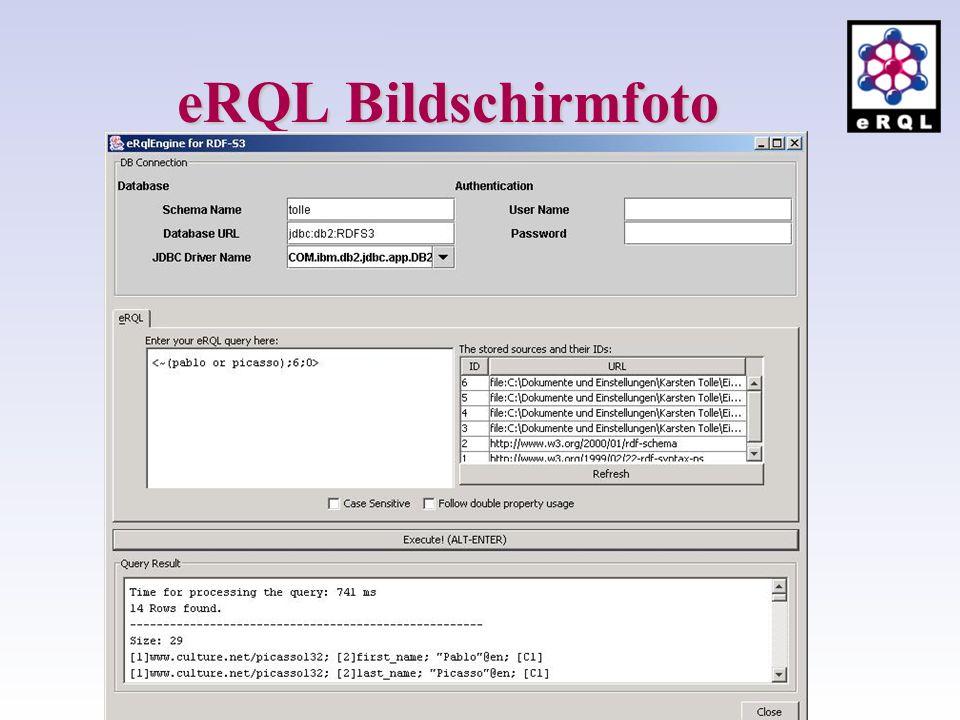 eRQL Bildschirmfoto