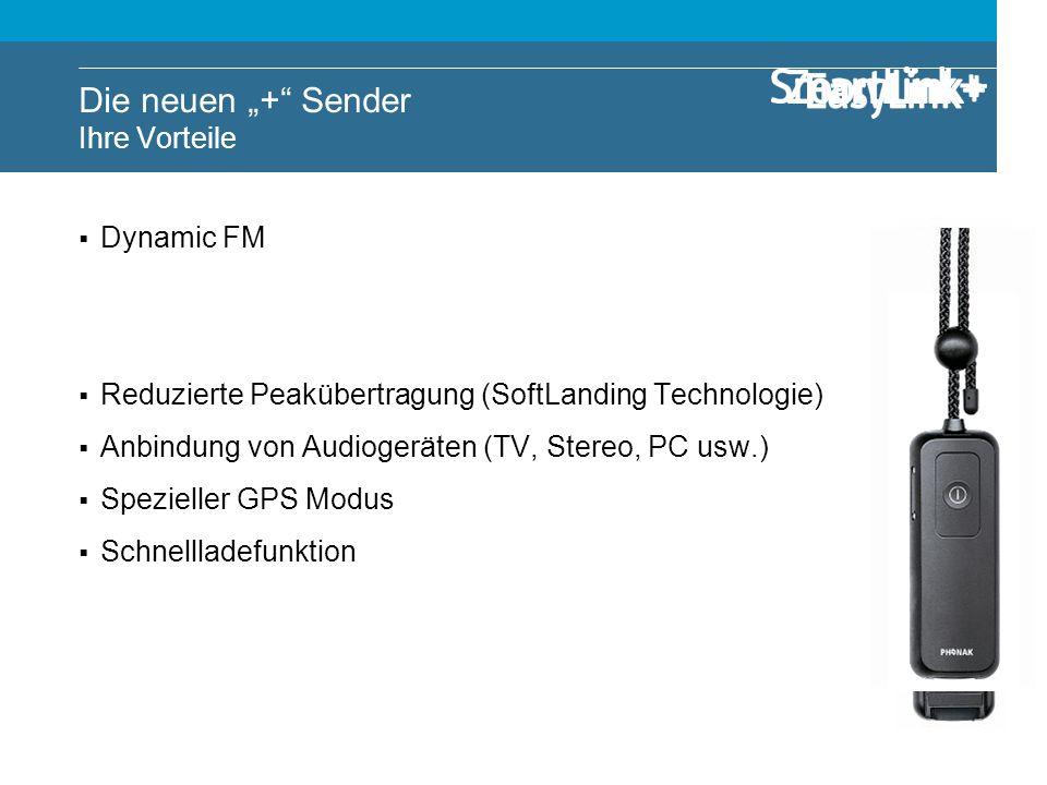 Dynamic FM Wählbare Mikrofoneinstellungen Bluetooth Anbindung (Handys, MP3-Players usw.) Reduzierte Peakübertragung (SoftLanding Technologie) Anbindun