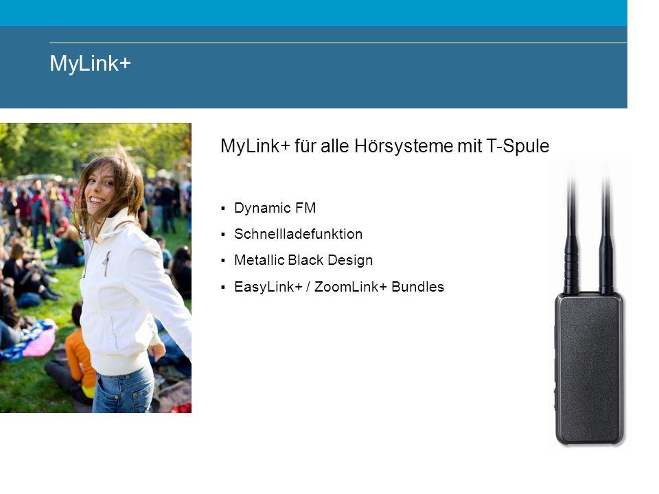 MyLink+ MyLink+ für alle Hörsysteme mit T-Spule Dynamic FM Schnellladefunktion Metallic Black Design EasyLink+ / ZoomLink+ Bundles