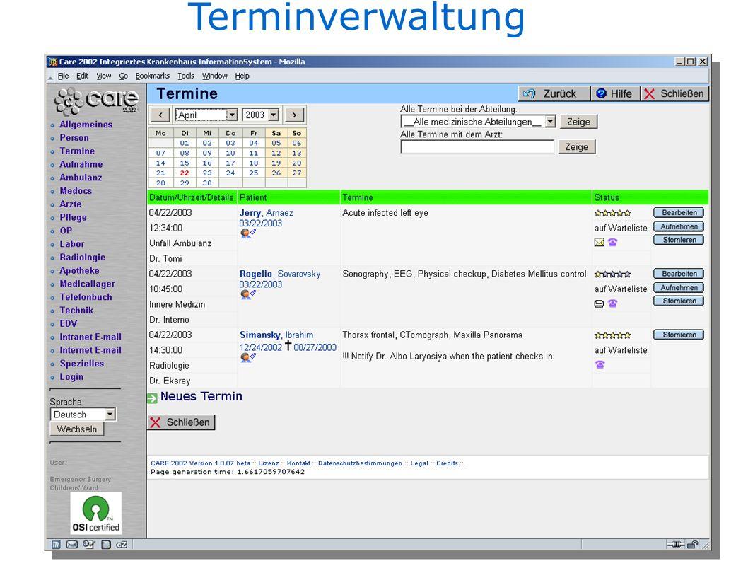 Terminverwaltung