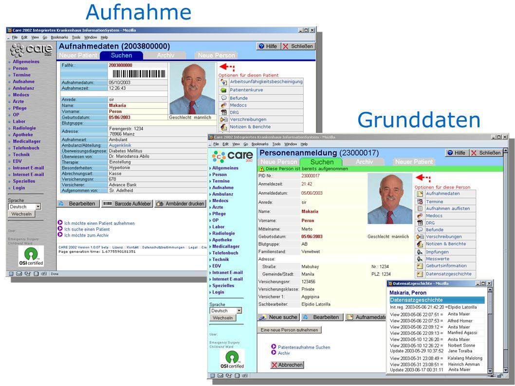 Aufnahme Grunddaten