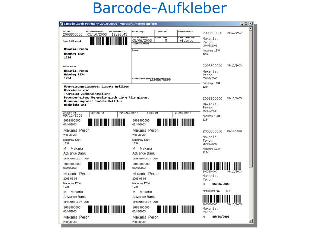 Barcode-Aufkleber