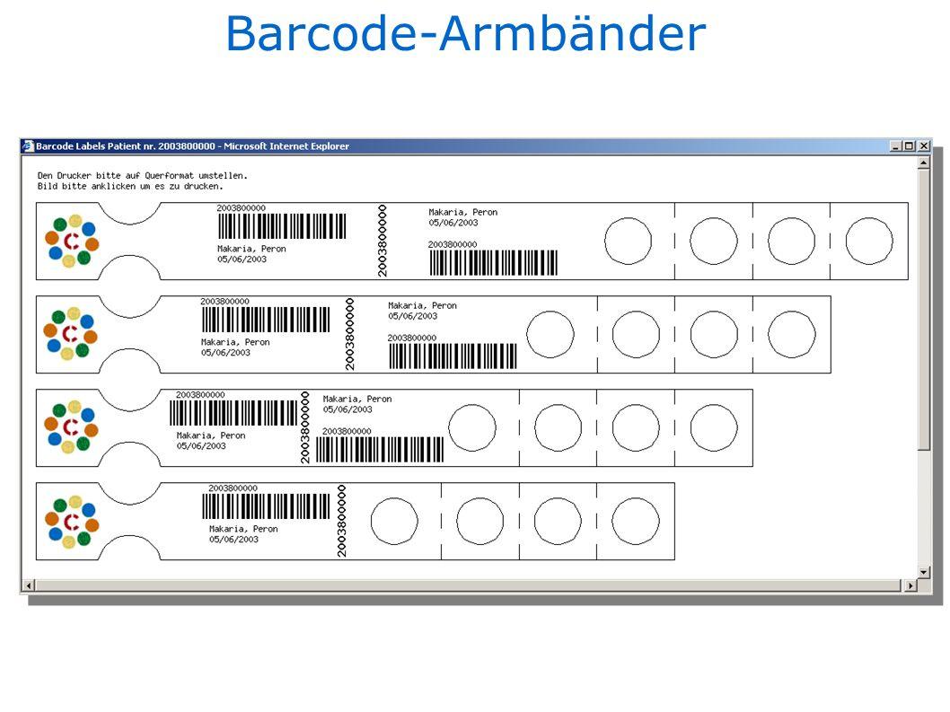 Barcode-Armbänder