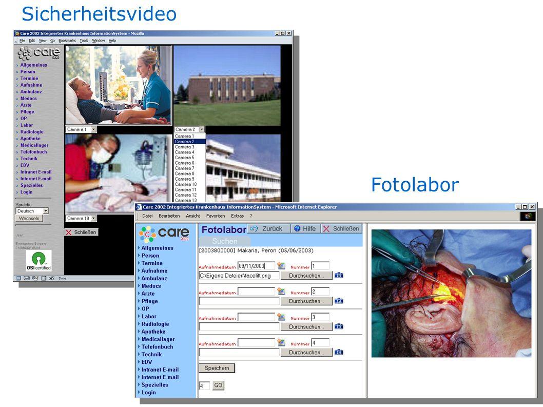 Sicherheitsvideo Fotolabor