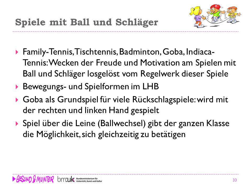 33 Spiele mit Ball und Schläger Family-Tennis, Tischtennis, Badminton, Goba, Indiaca- Tennis: Wecken der Freude und Motivation am Spielen mit Ball und
