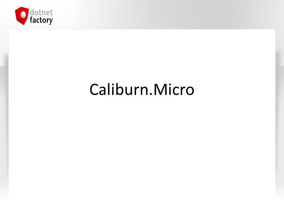 Agenda Einführung in Caliburn.Micro Actions Screen-Lifecycle UI-Komposition EventAggregator Module/Regions