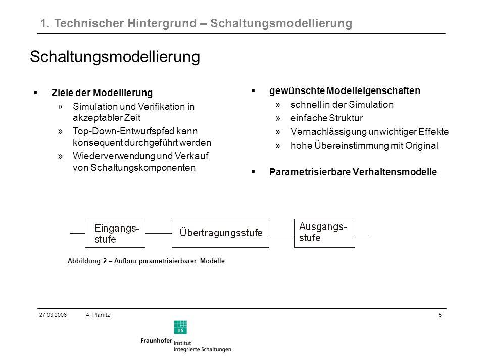 5 27.03.2006A. Plänitz Schaltungsmodellierung 1.