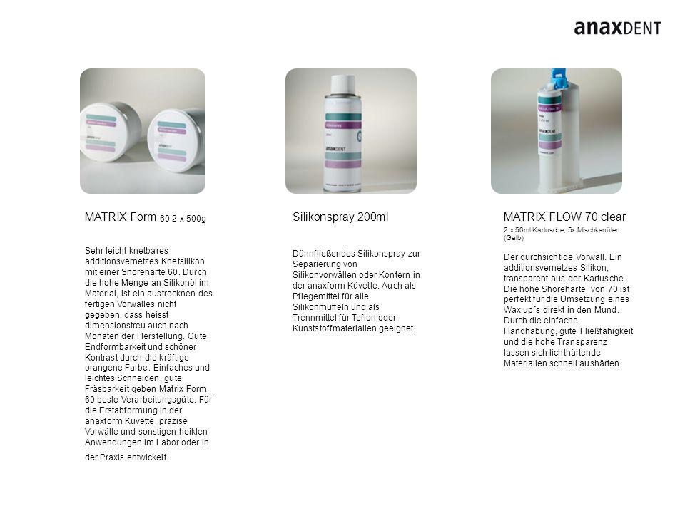 MATRIX Cast clear A & B 2 x 1 Liter Dubliersilikon pur, ohne Einfärbung und Füllkörper glasklar.