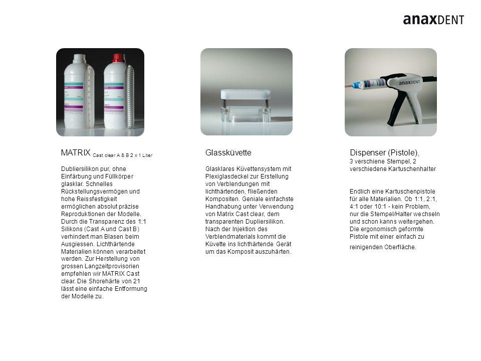 MATRIX Cast clear A & B 2 x 1 Liter Dubliersilikon pur, ohne Einfärbung und Füllkörper glasklar. Schnelles Rückstellungsvermögen und hohe Reissfestigk