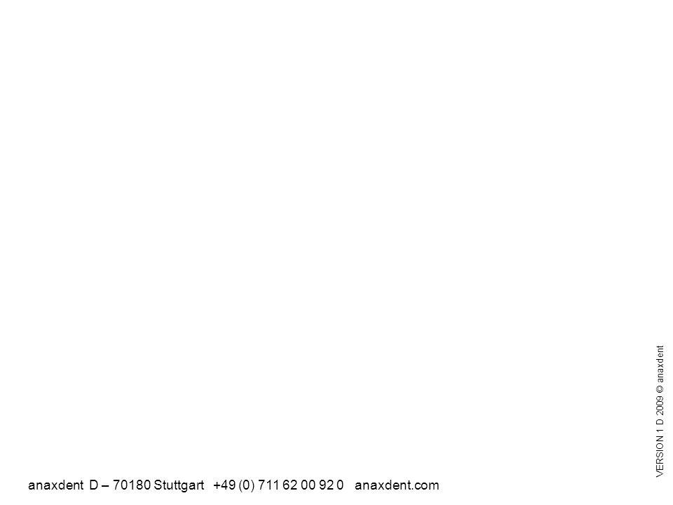 anaxdent D – 70180 Stuttgart +49 (0) 711 62 00 92 0 anaxdent.com VERSION 1 D 2009 © anaxdent
