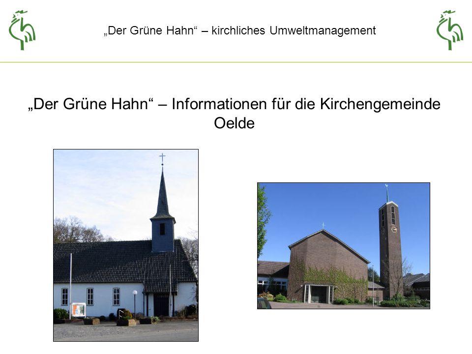 Der Grüne Hahn – kirchliches Umweltmanagement Maßnahmen zur Energieeinsparung ohne bzw.